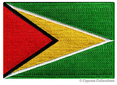 GUYANA FLAG embroidered iron-on PATCH SOUVENIR EMBLEM BANNER SOUTH AMERICA new