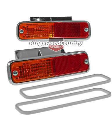 Holden HQ HJ HX HZ Side Indicator Repeater Lights NEW x2 Rear 1/4 Panel