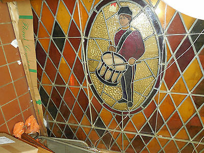 Very Large Pair of Wonderful Antique Stained-Glass Windows- DrummersLocalPickup!