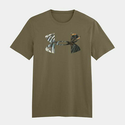 Under Armour YOUTH Turkey Feathers Logo Tee Shirt (Green) 1243187-356