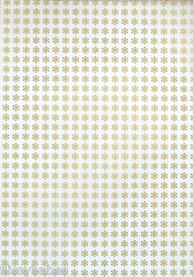 5 x A4 Small Gold Flower Patterned Vellum NEW