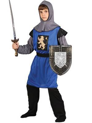 Child Medieval Knight Fancy Dress Costume Kids Boys Male BN