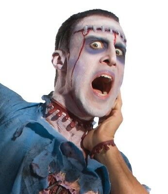 Costume Makeup Zombie Bloody Blood Wound Kit Necklace Bracelet Latex Appliance