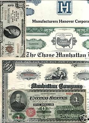 HUGE JP MORGAN/CHASE PAPER LOT! 25 ITEMS incl HISTORIC STOCKS w ROCKEFELLER SIG!