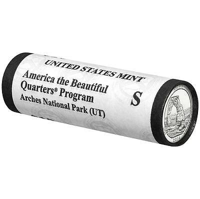 2014 S Arches National Park UT Quarter 40 Coin Roll San Fran Mint In Hand