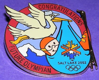 SALT LAKE CITY 2002 Olympic Collectible LE Pin - Future Olympian It's A Boy LE
