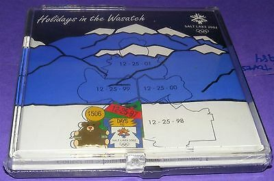 SALT LAKE CITY 2002 Olympic Collectible LE Pin - Holidays in the Wasatch Puzzle