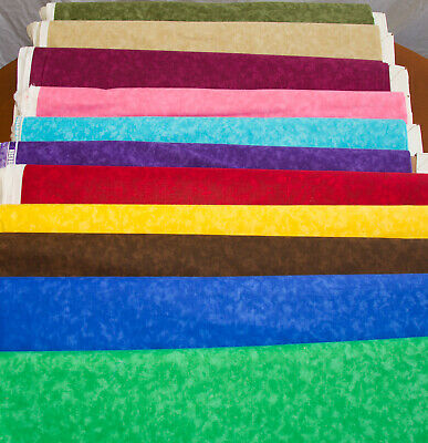 """44/45"""" Quilter's 100% Cotton BLENDER - 25+ Colors - By the Yard"""