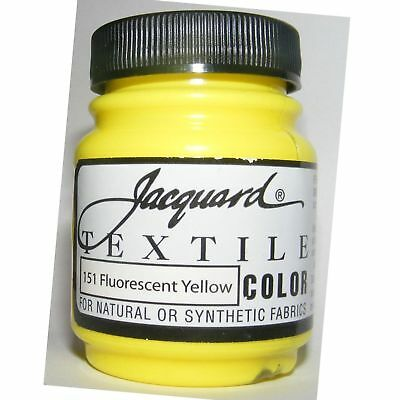 Jacquard Fluor Yellow Natural Or Synthetic Fabric Paint