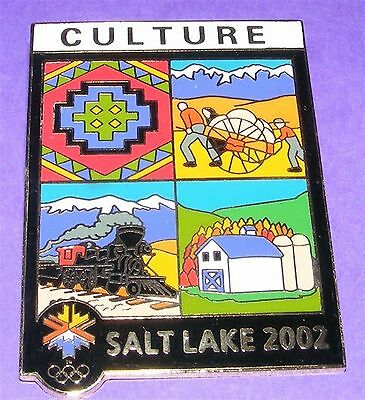 SALT LAKE CITY 2002 Olympic Collectible LE Pin - Olympic Motto CULTURE #/2002