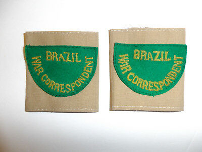 c0397 WW 2 Brazil War Correspondent shoulder tabs slip on