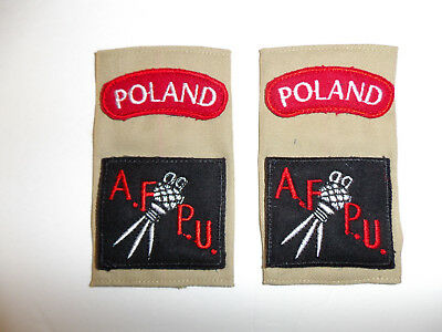 c0398 WW 2 Polish Military A.F.P.U. Armed Forces Photographic Unit shoulder tabs
