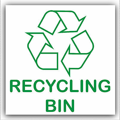 Recycling Waste Bin Self Adhesive Sticker-Printed with Recycle Logo Sign