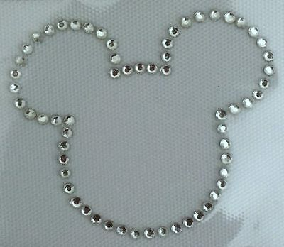 Rhinestone Iron On Transfer Mickey Mouse or Minnie Bow