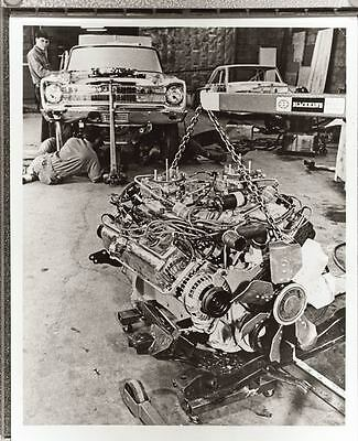 1965 Plymouth Hemi Drag Race Car Engine Photo Poster zu1345