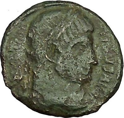 CONSTANTINE I the GREAT 328AD Ancient Roman Coin Military Camp gate i40381