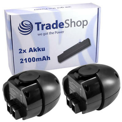 2x Akku 4,8V 2100mAh Ni-MH für Metabo Powergrip Flashlight Powermaxx
