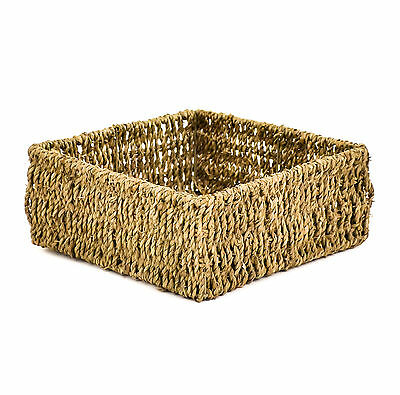 east2eden Square Seagrass Chic Display Kitchen Storage Basket Choice of Sizes
