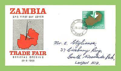 Zambia 1968 Trade Fair First Day Cover