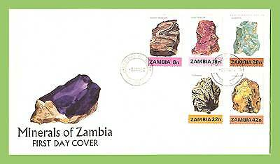Zambia 1982 Minerals of Zambia set on First Day Cover