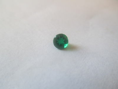 .41ct Loose Round Cut Lab Created Emerald 5 x 8mm