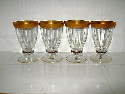 TIFFIN FRANCISCAN (4) WATER GOBLETS