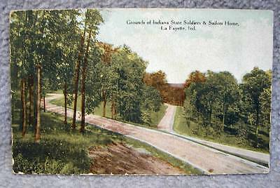 1911 Grounds of Indiana Soldiers & Sailors Home Lafayette Indiana Postcard
