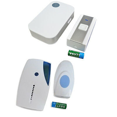 Wireless Cordless Portable Door Bell 36 Melodies Flashing Home Doorbell Chime UK