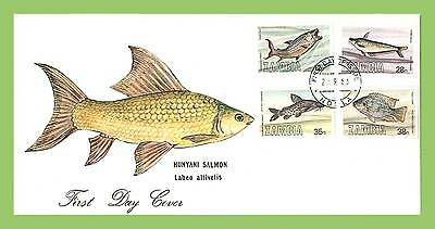 Zambia 1983 Fish of Zambia set on First Day Cover