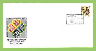 Zambia 1983 World Communications Year Conference special cancel cover