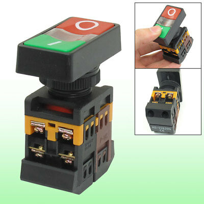 On/Off Start Stop Momentary Push Button Pushbutton Switch AC 600V 10A