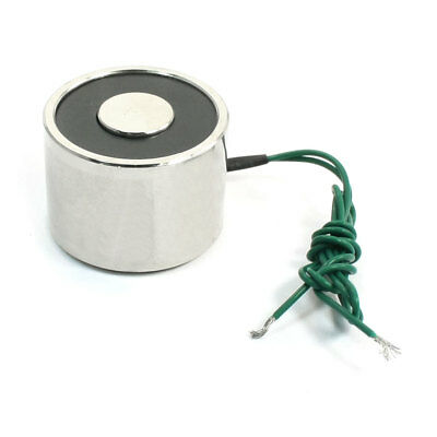 DC 12V 22lb 2 Wired 5W Electric Electromagnet Solenoid Lift Holding