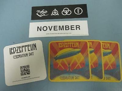 LED ZEPPELIN mothership sticker & celebration day 4x coaster set ~NEW~!!