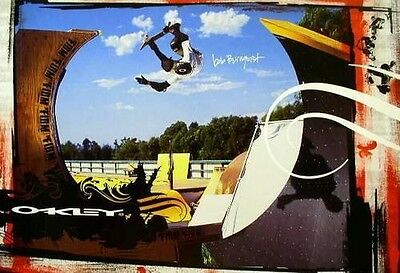 OAKLEY 2006 Bob Burnquist skateboard promotional poster ~MINT condition~NOS~!!