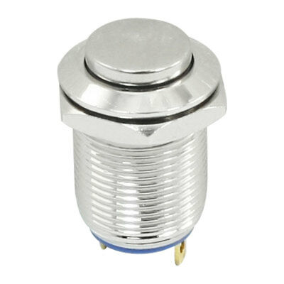 Metal Momentary Round Push Button Switch 12mm Mounting SPST ON/OFF