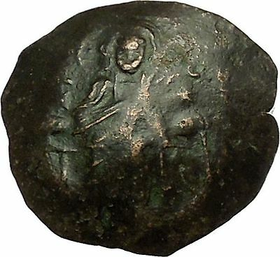 Manuel I Comnenus 1143AD Ancient Byzantine Coin Jesus Christ Virgin Mary i40317