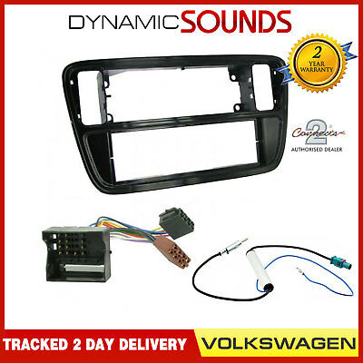CT24VW15 Single Din Car Stereo Fascia Wiring ISO Fitting Kit For VW UP 2012>