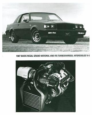1987 Buick Regal Grand National Turbocharged V6 Automobile Photo Poster zch5400