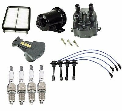 Complete Tune Up Kit Filters,Cap,Rotor,NGK Wires & Denso Plugs Corolla 4AFE 7AFE