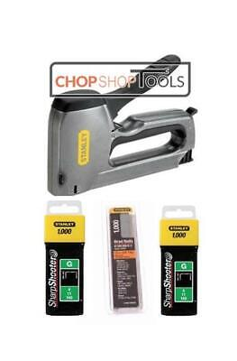 Stanley Stapler & Nail Gun Complete with 1000 of 10mm, 12mm Staples & 15mm Brads