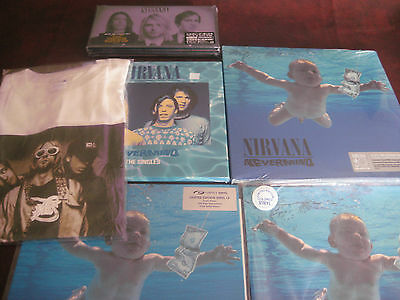 Nirvana Nevermind Collection Blue Vinyl + Uk Issue + Singles + 4 Lp Box + Bonus