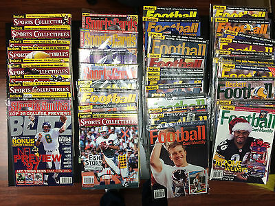 Lot Set of 61 Beckett Magazines Football Cards Sports Cards Collectibles Issue F