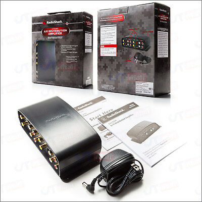 NEW !! RadioShack 1-In/4-Out A/V Component Video Distribution Amplifier Splitter