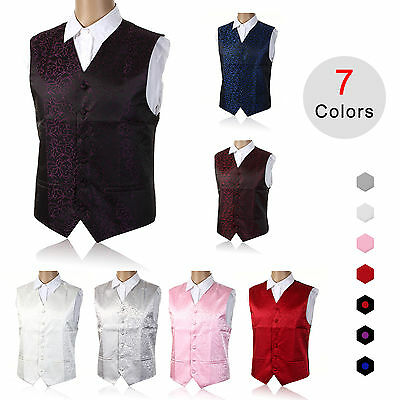 "Mens SWIRL WEDDING WAISTCOAT Size 36""-50"" Chest Available SMLXL 2XL 3XL 4XL 5XL"