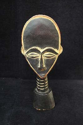 """Unique Vintage Large African Tribal Bust Statue Sculpure 13.75"""" Tall"""