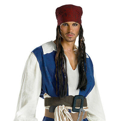 Pirates of the Caribbean - Adult Jack Sparrow Headband with Hair - Pirate