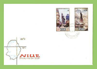 Niue 1986 Statue of Liberty set First Day Cover