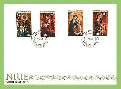 Niue 1979 Christmas set of Paintings on First Day Cover