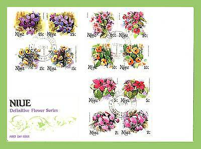 Niue 1983 Definitive Flowers part set on First Day Cover