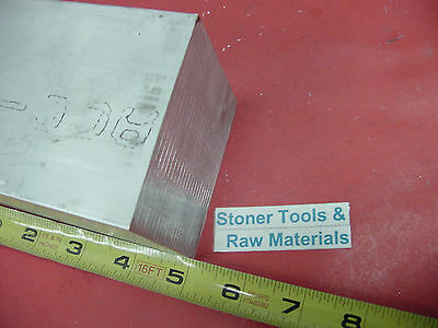 "3"" X 3"" ALUMINUM 6061 SQUARE SOLID BAR 5"" long T6511 Flat New Mill Stock"